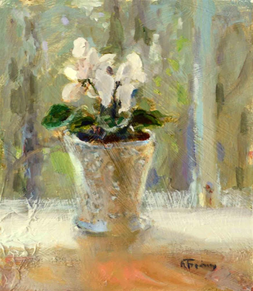 """Cyclamen"" original fine art by alicia tredway"
