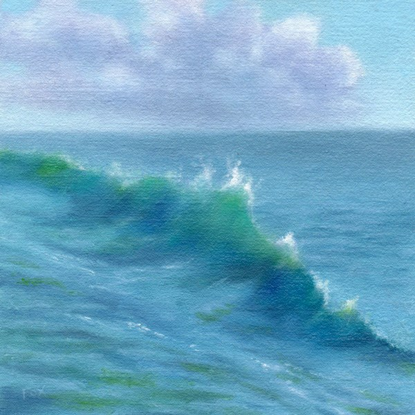"""Wave #2"" original fine art by Barbara Fox"