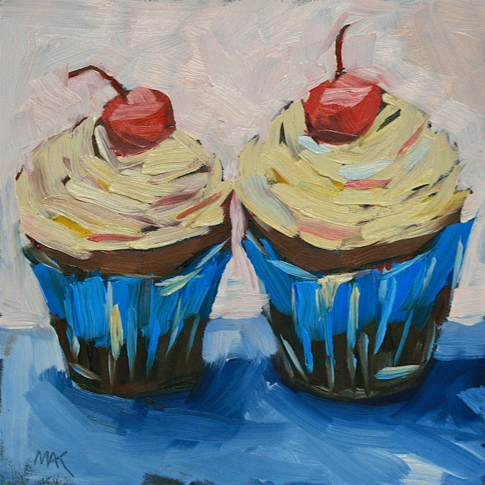 """Cupcakes"" original fine art by Mary Anne Cary"