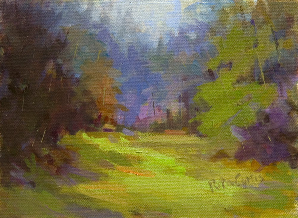 """Summer Grove"" original fine art by Rita Curtis"