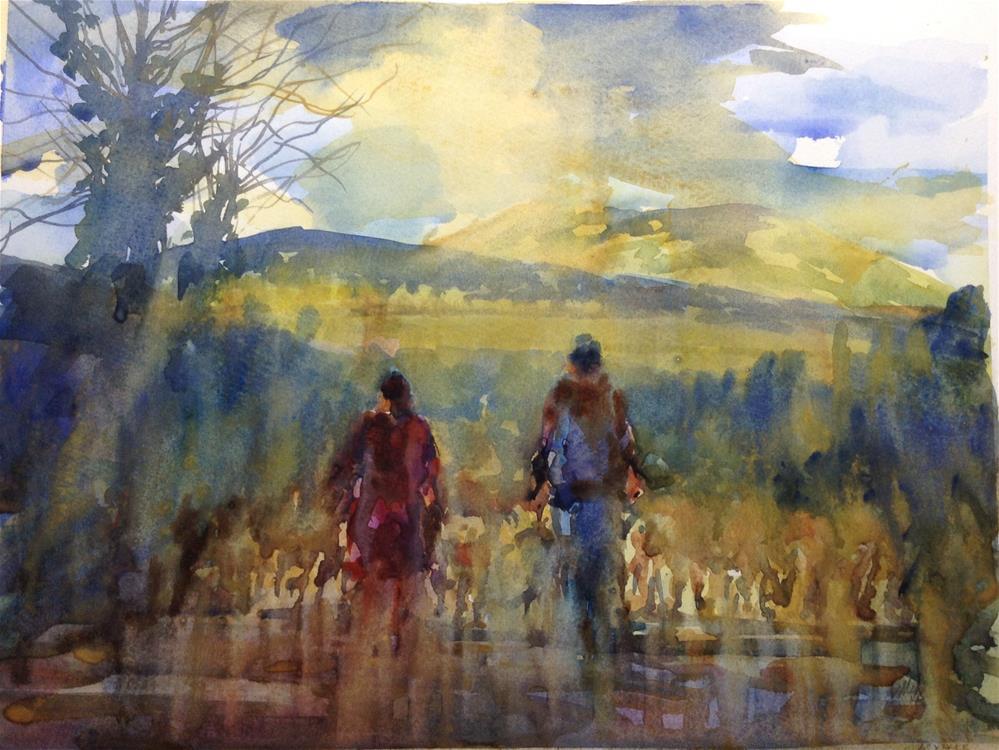 """Bringing the flock home"" original fine art by Joseph Mahon"