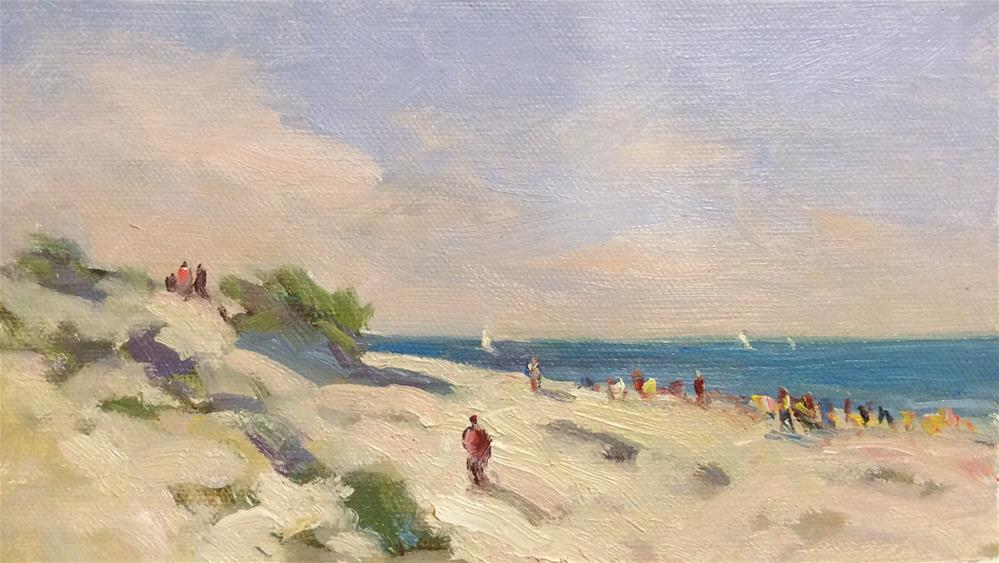 """On the Beach..Warnemunde"" original fine art by John Shave"