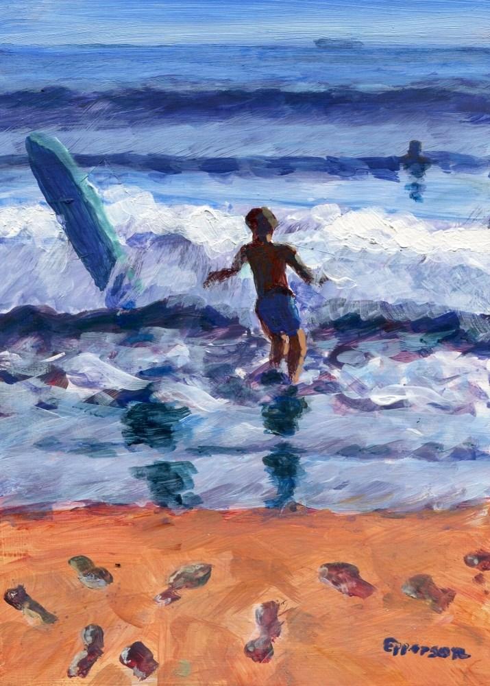 """California Boy"" original fine art by Stanley Epperson"