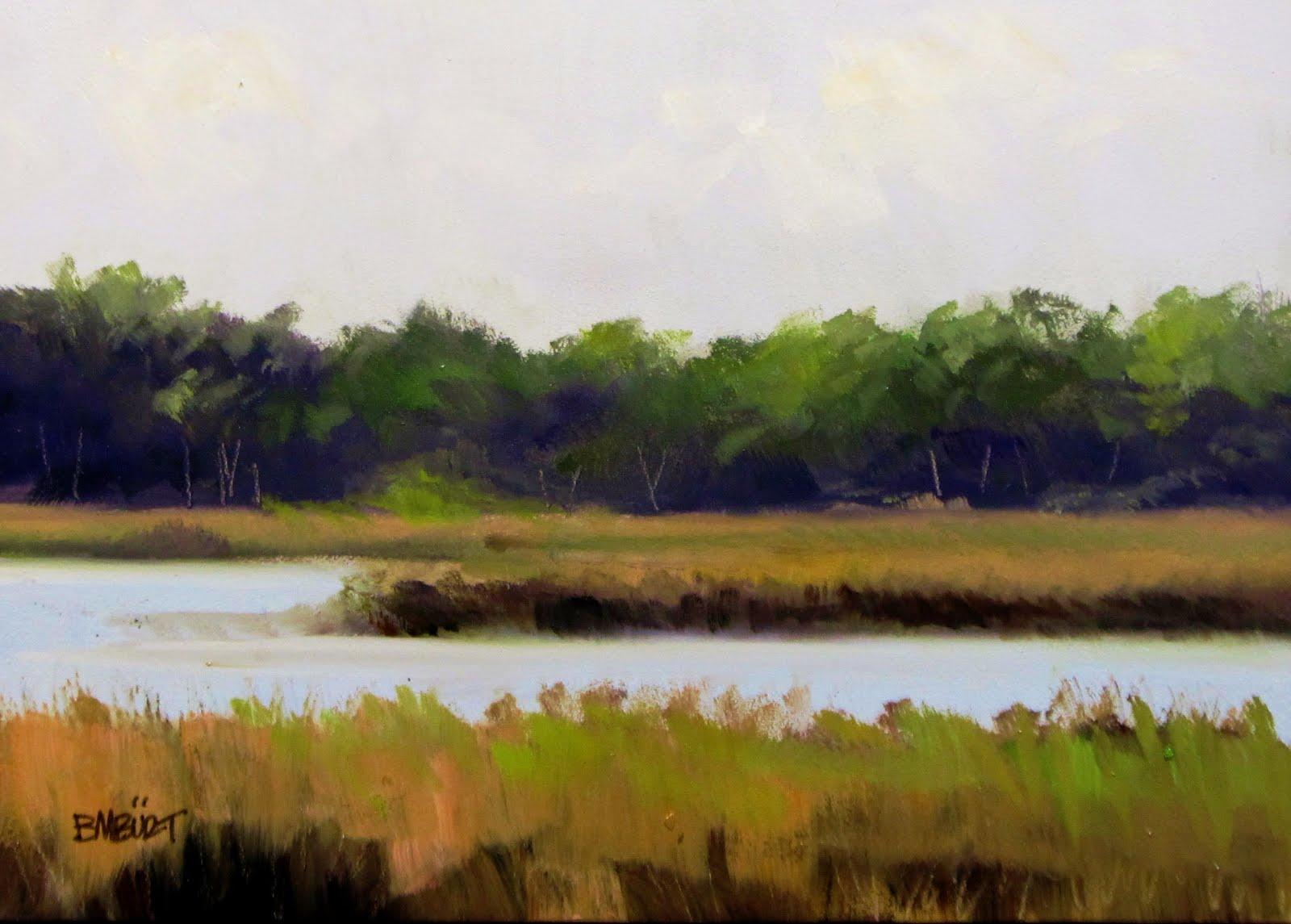 """ART 4 DIAPERS (DAILY DIAPER #157) South Carolina Marsh"" original fine art by Brian Burt"