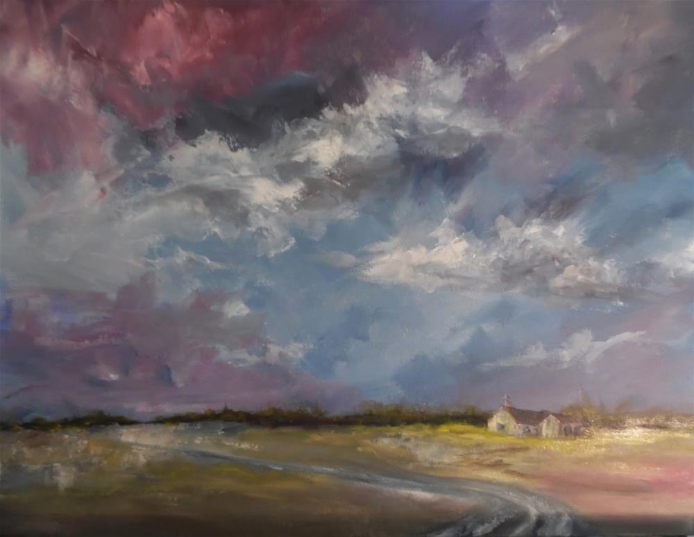 """Passing Storm oil landscape painting by Alabama Artist Angela Sullivan"" original fine art by Angela Sullivan"