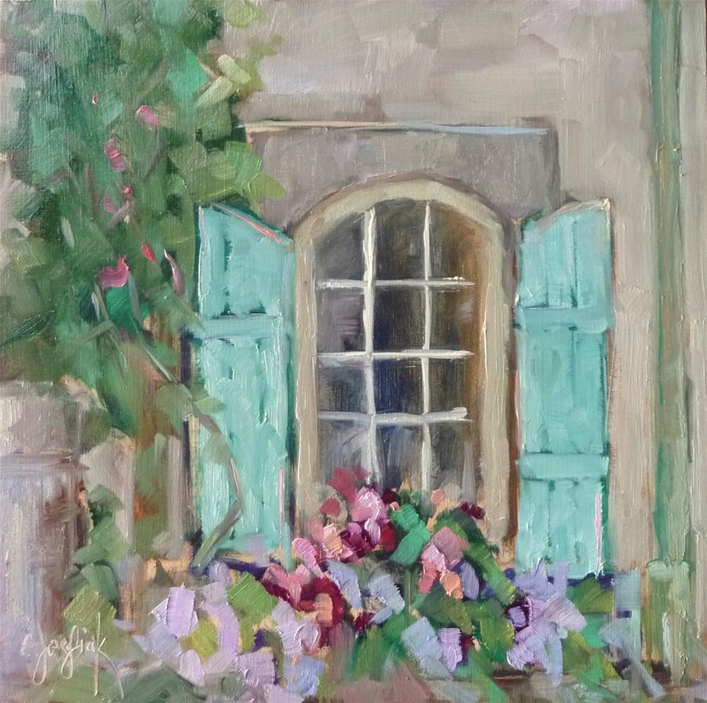 """Flower Box #2"" original fine art by Carol Josefiak"
