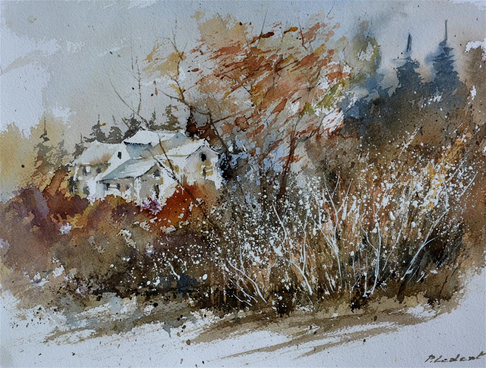 """watercolor 6 150 41"" original fine art by Pol Ledent"