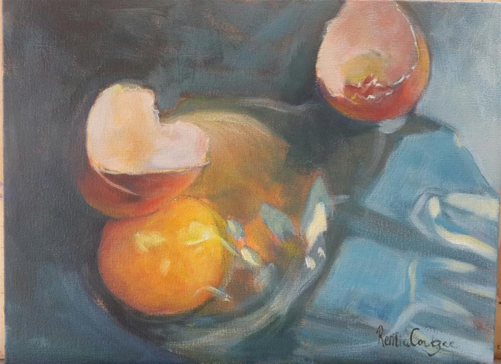 """No breakfast today!"" original fine art by Rentia Coetzee"