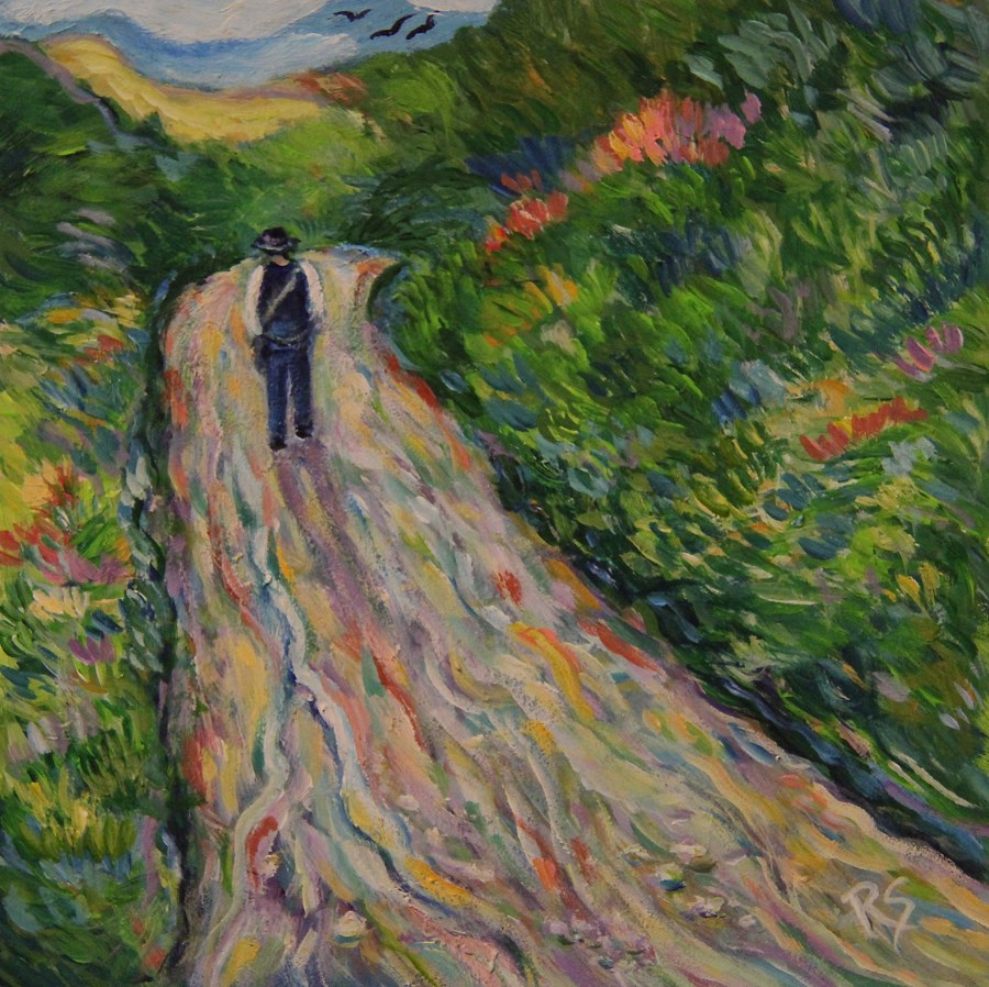 """The Walk Home"" original fine art by Roberta Schmidt"