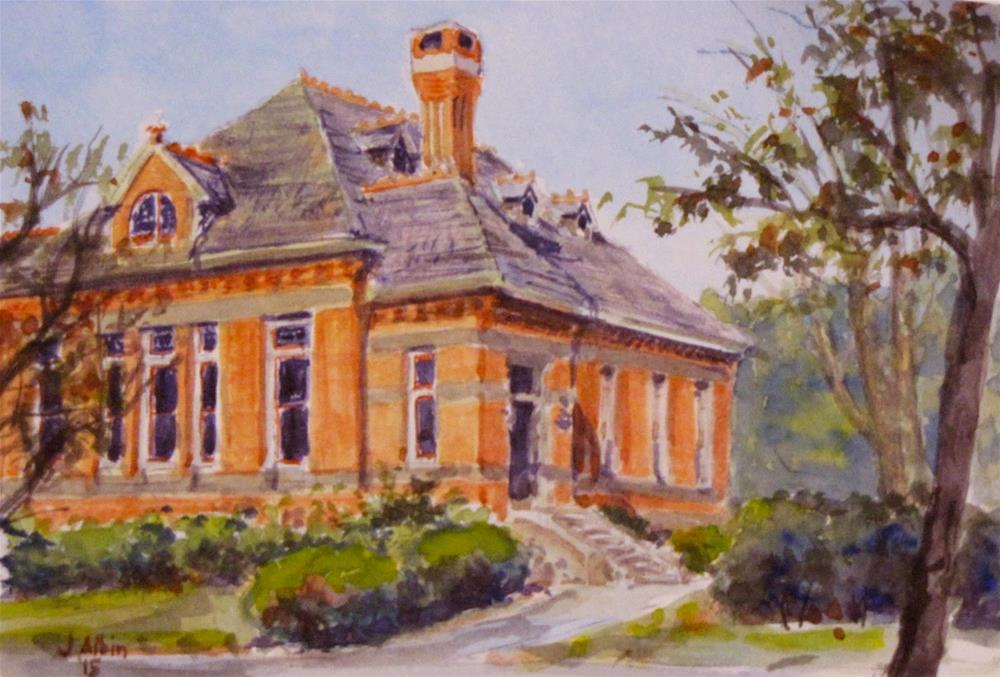 """Bucknell Hall"" original fine art by Jane Albin"