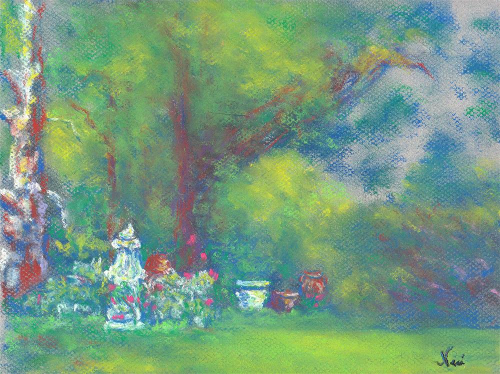 """Peaceful Garden"" original fine art by Niki Hilsabeck"