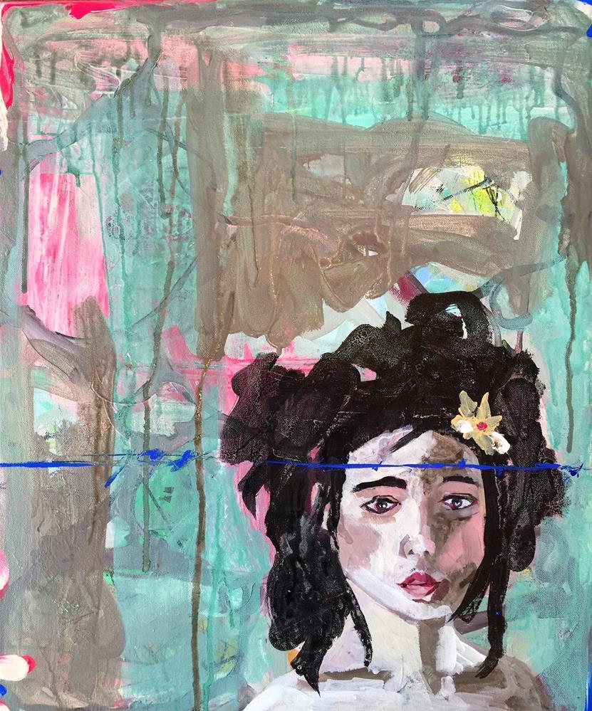 """""""113 Risky Blue"""" original fine art by Jenny Doh"""