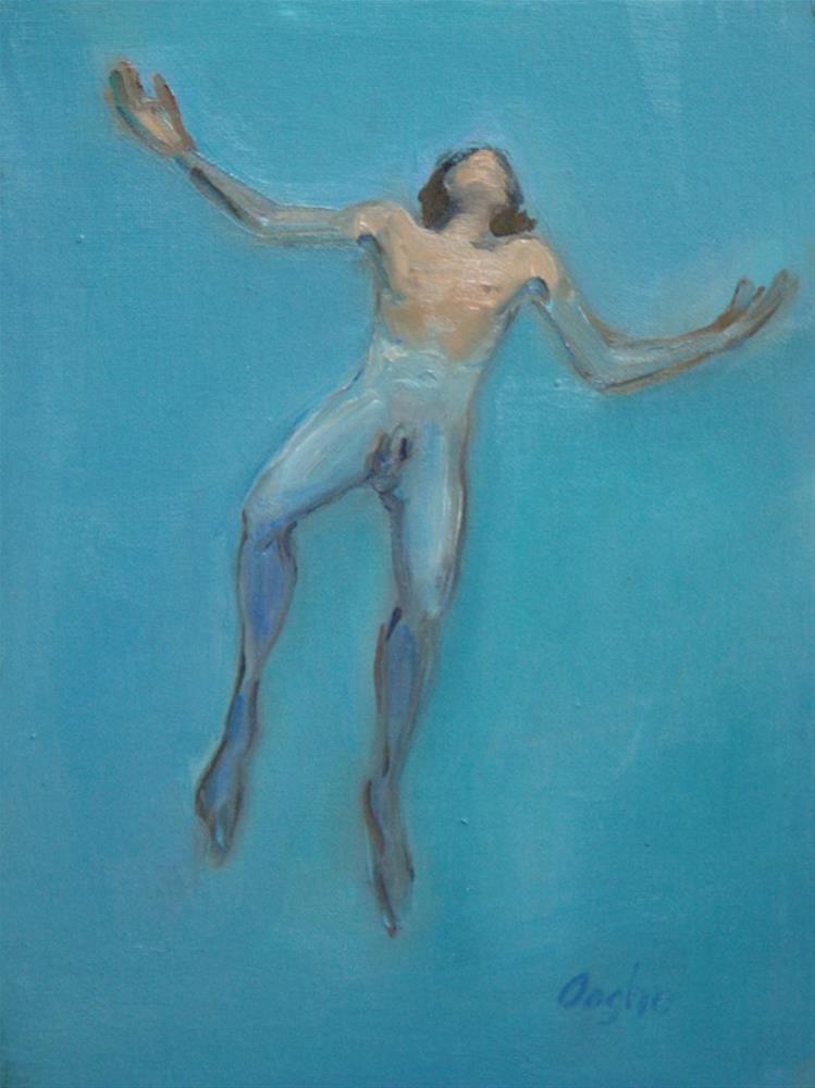 """Floating Man"" original fine art by Angela Ooghe"