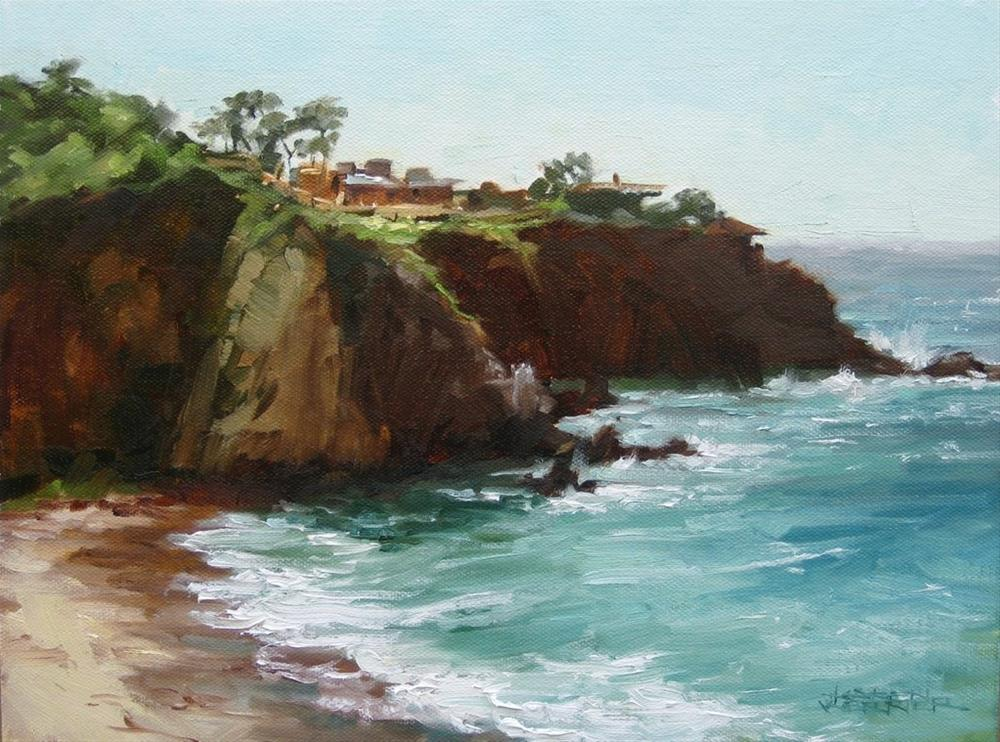 """Warm Cliffs"" original fine art by Karen Werner"