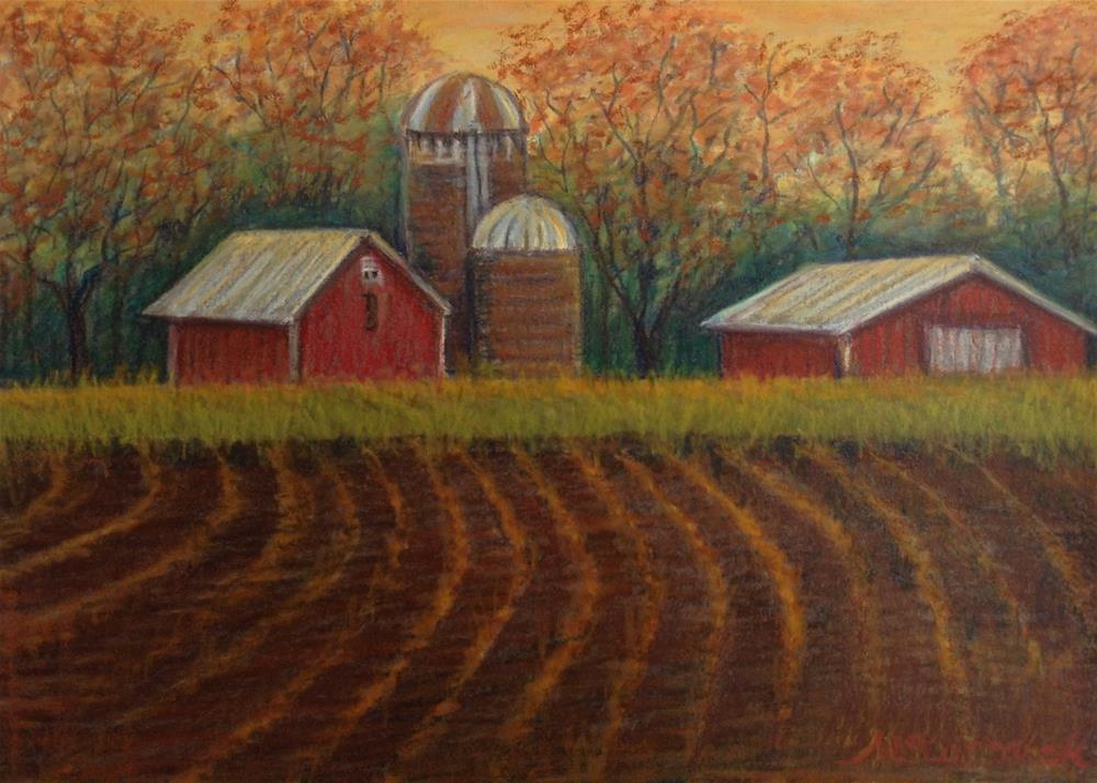 """""""After the Harvest"""" original fine art by Mary  McCormick-Wixson"""