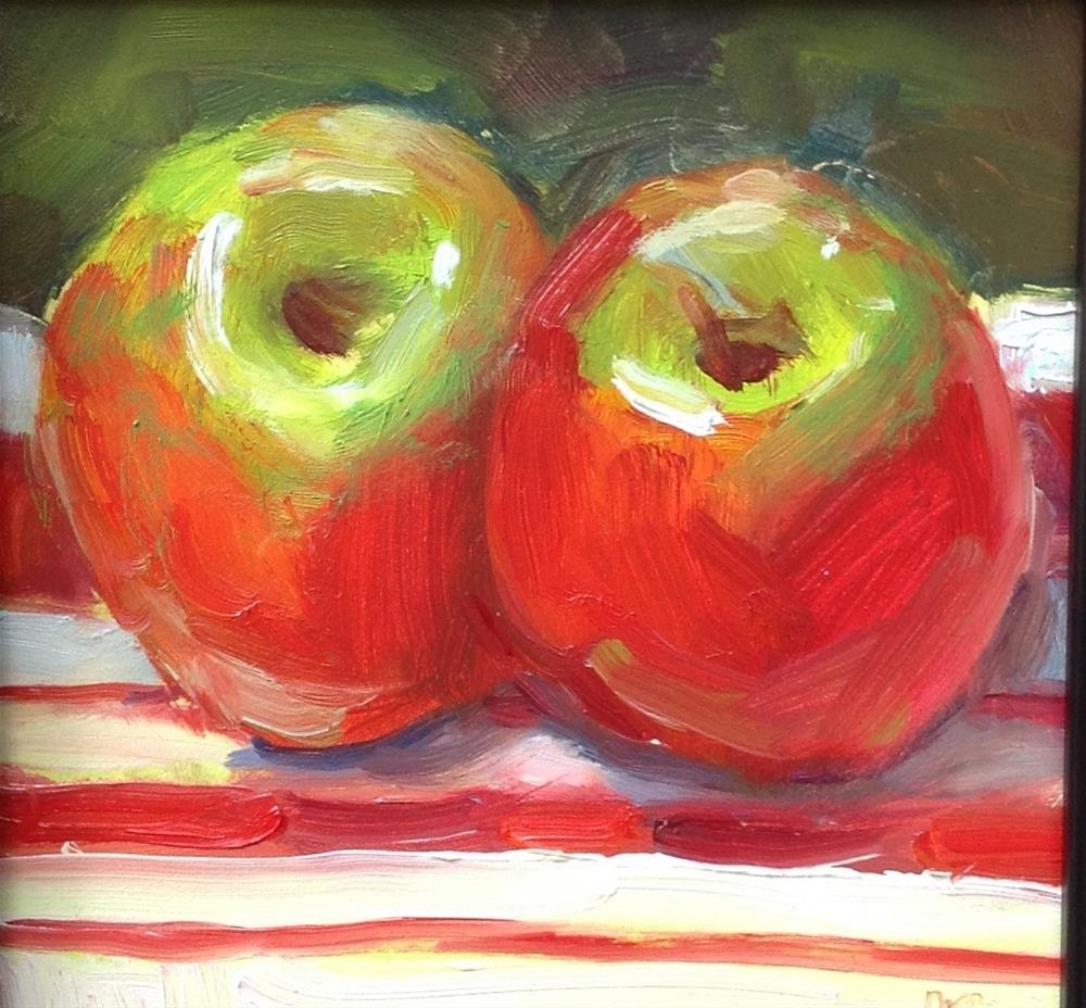 """Patriotic Apples?"" original fine art by Marcia Bergtholdt"