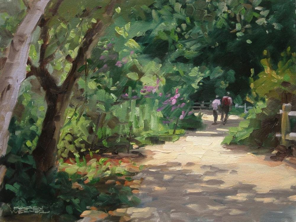 """Botanical Stroll"" original fine art by Karen Werner"