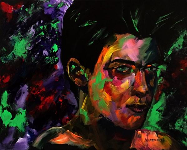 """Mark Adam Webster - Portrait Painting - Bennett 0901"" original fine art by Mark Webster"