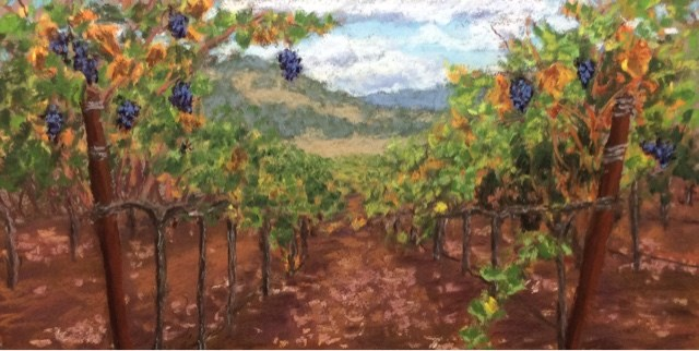 """AFTER THE HARVEST"" original fine art by Marti Walker"