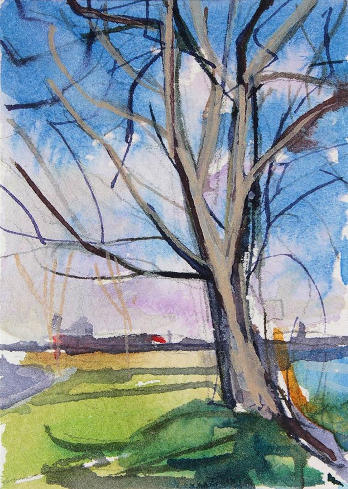 """Dormant Tree"" original fine art by Chris  Breier"