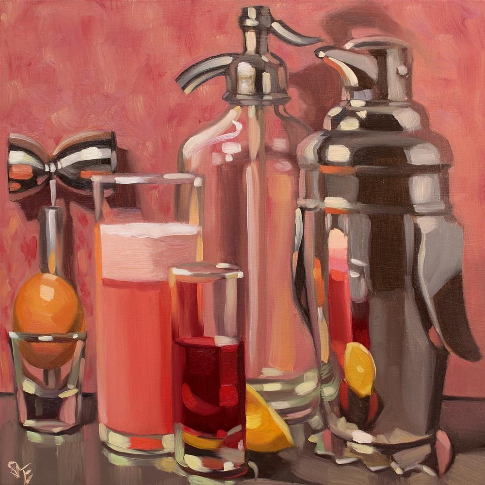 """Ruby Fizz"" original fine art by Sheila Evans"