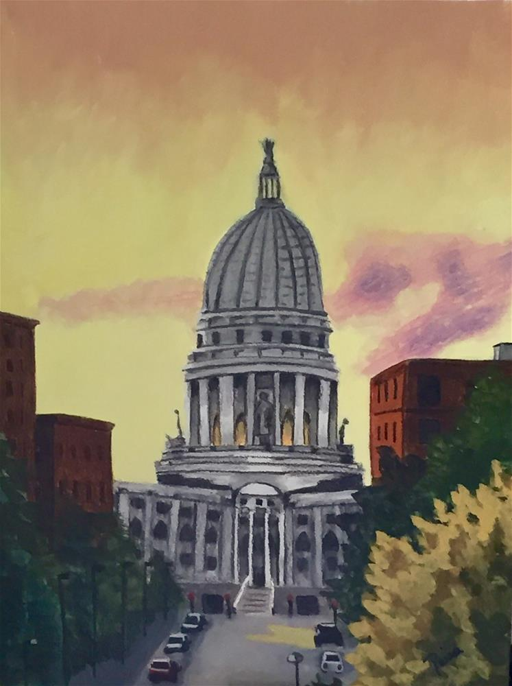 """""""State Capitol, Madison, WI"""" original fine art by Reisa Peters"""