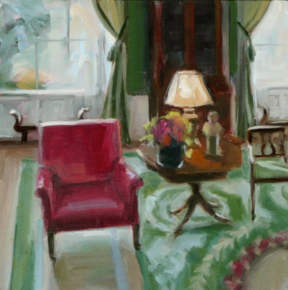 """White House, pink chair"" original fine art by Dana Cooper"