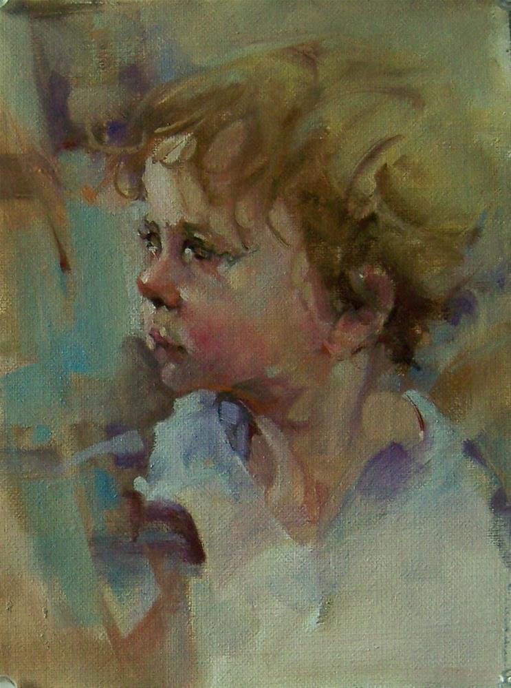 """Sweet Little Violet"" original fine art by Kim Roberti"