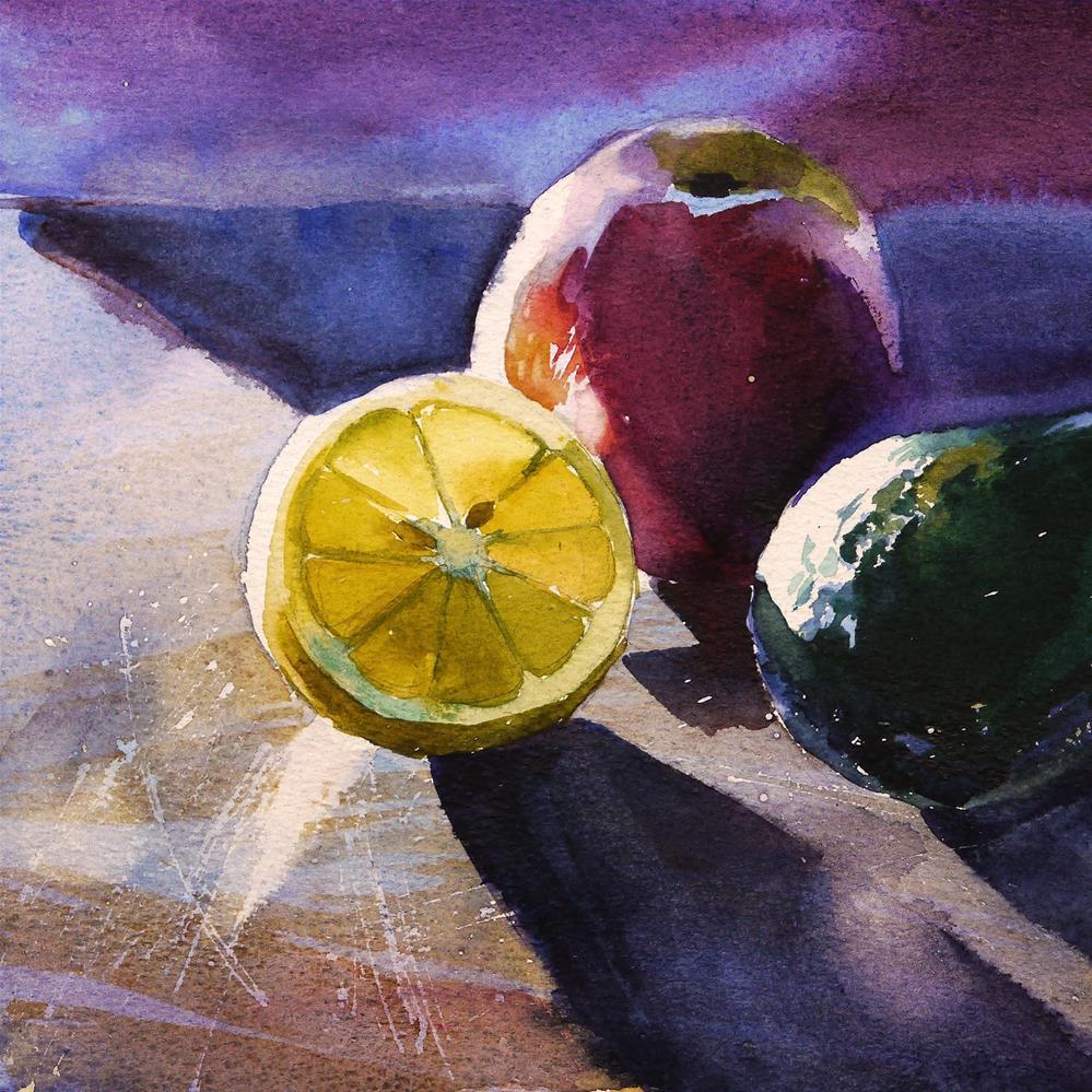 """fruit trio"" original fine art by Beata Musial-Tomaszewska"