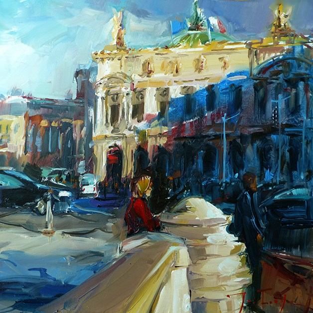 """Pariser Oper"" original fine art by Jurij Frey"