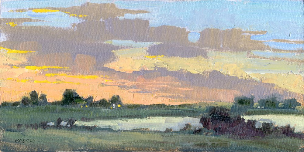 """Dawn at the Lake"" original fine art by Kath Reilly"