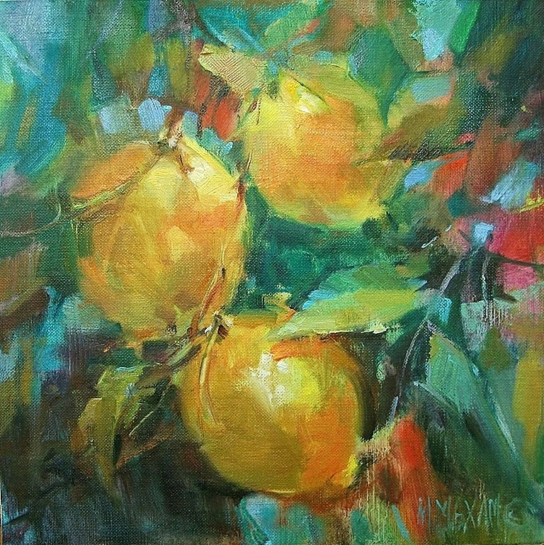 """Lemon Zest"" original fine art by Mary Maxam"