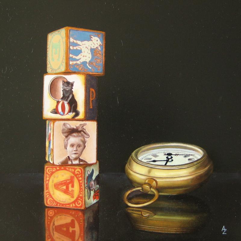 """Memory Blocks III"" original fine art by Alex Zonis"