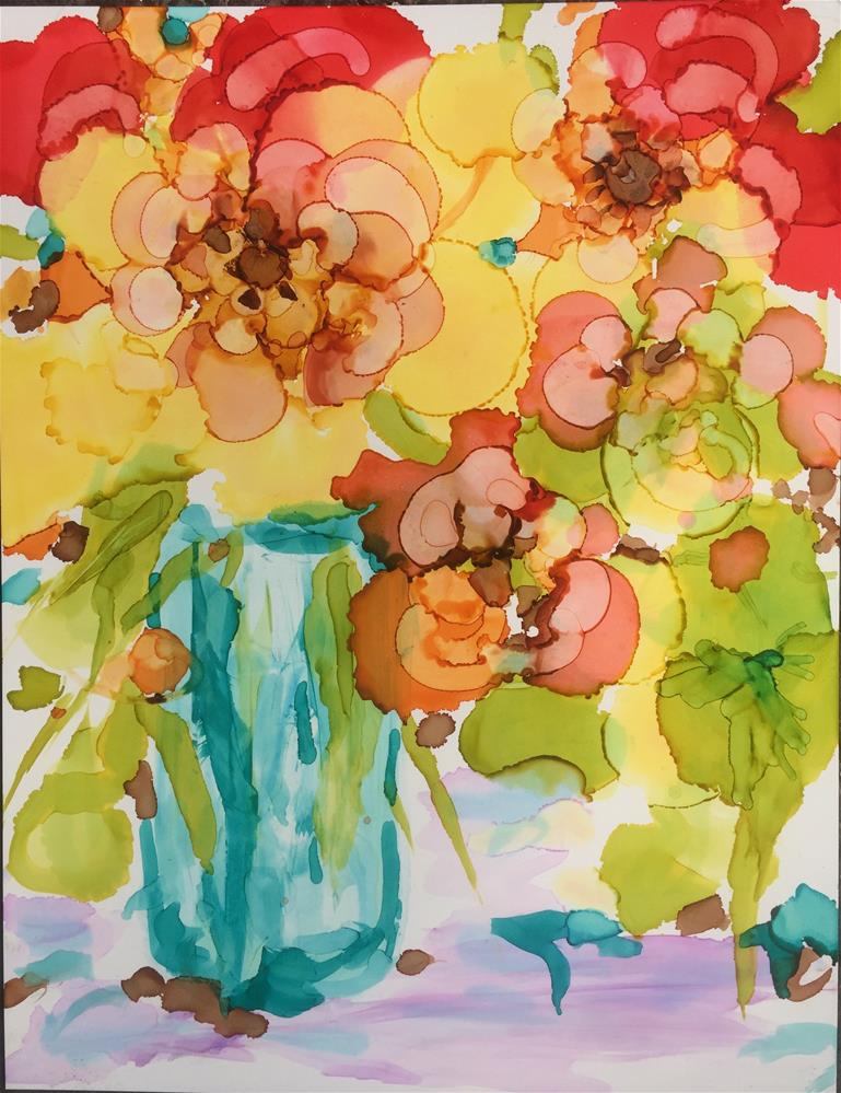 """April Bouquet"" original fine art by Kelly Alge"