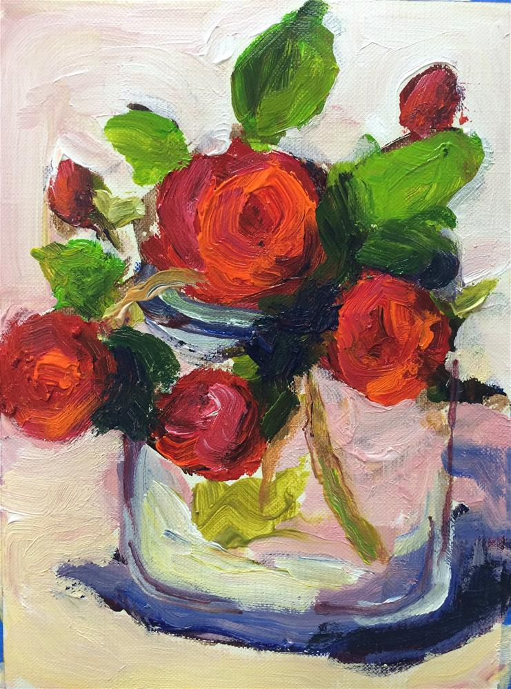 """Mini Roses -3-"" original fine art by Naomi Bautista"