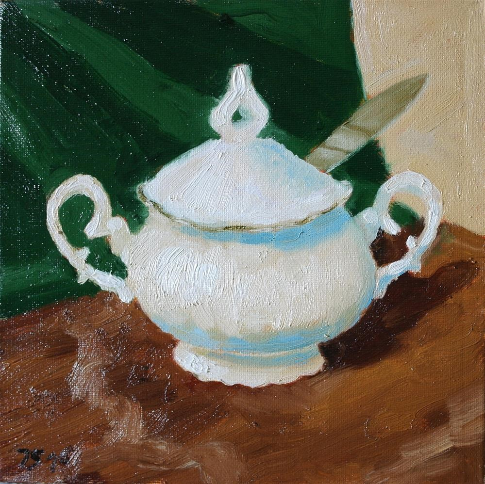 """sugar bowl"" original fine art by Juri Semjonov"