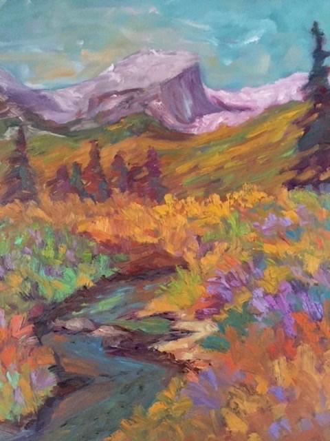 """""""Hallett Peak in Spring"""" original fine art by Liz Zornes"""