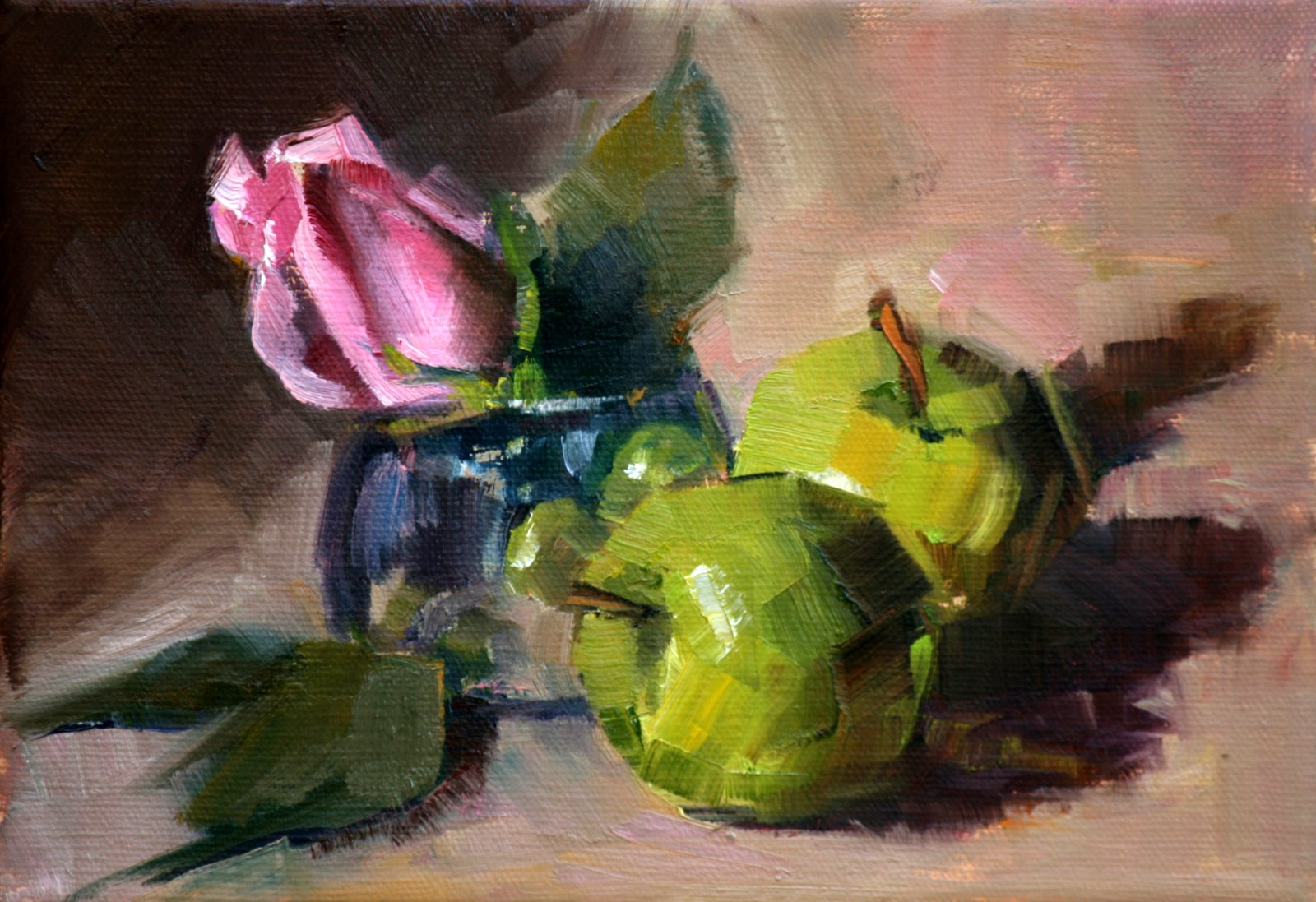 """pink"" original fine art by Carol Carmichael"