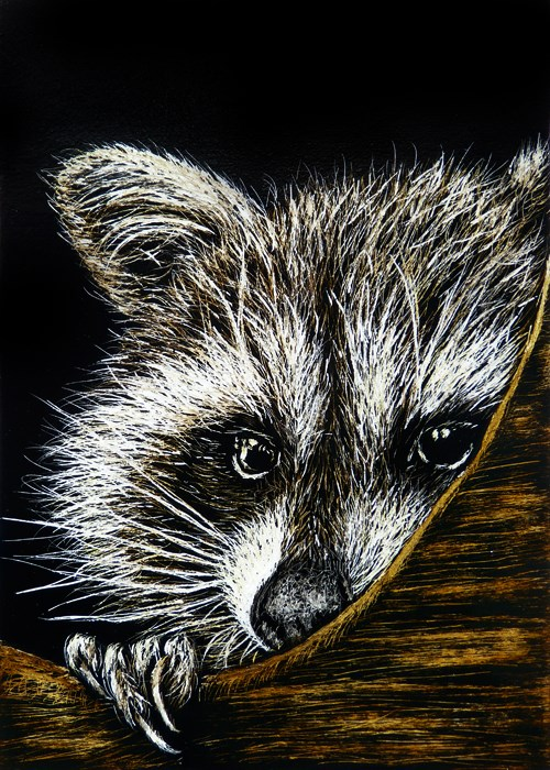"""Bashful"" original fine art by Monique Morin Matson"