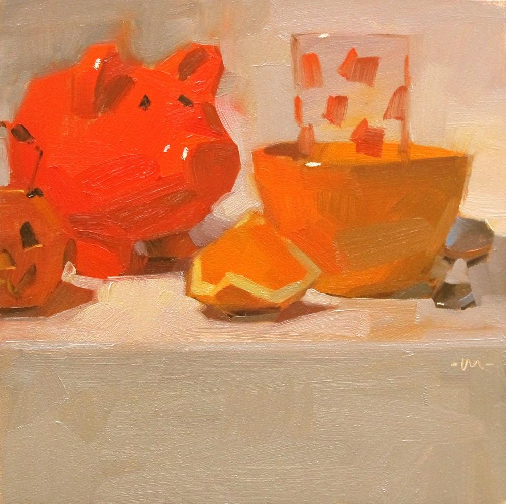 """For the Love of Orange"" original fine art by Carol Marine"