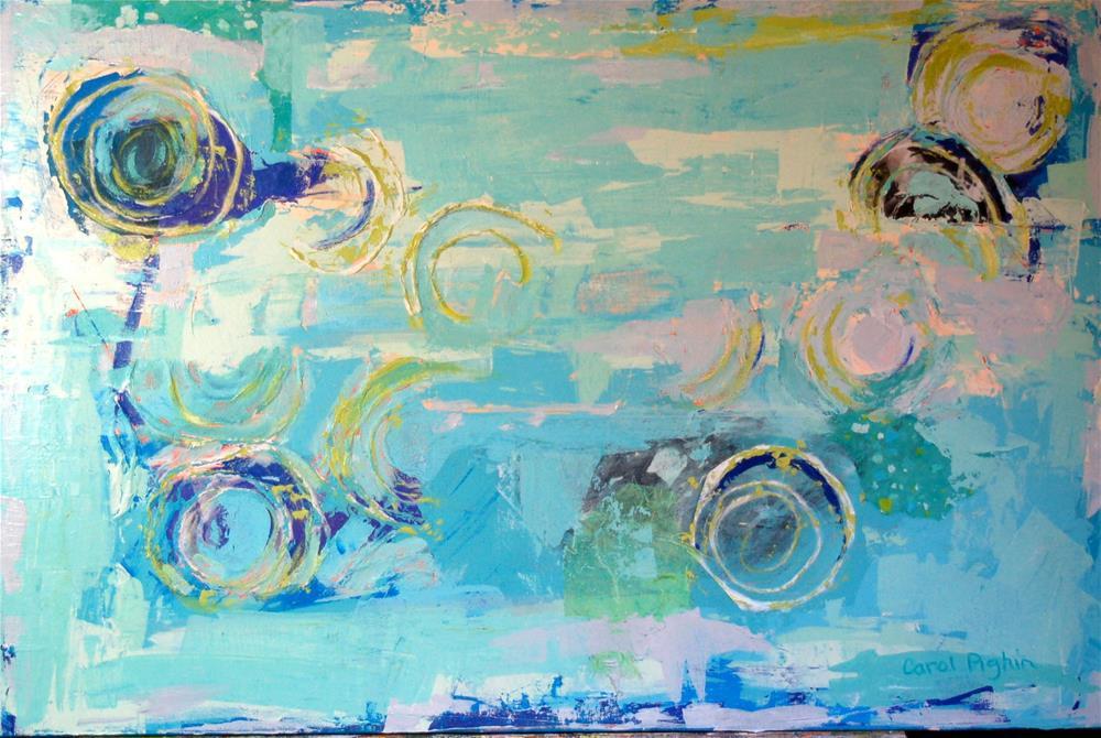 """Circles"" original fine art by Carol Pighin"