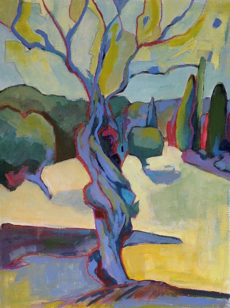 """Amandier Abstract"" original fine art by Patricia MacDonald"