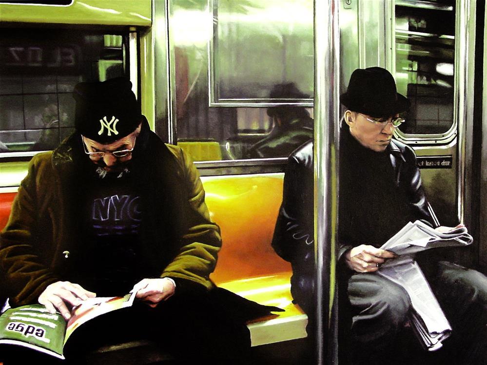 """Metro (People Riding NY Subway)"" original fine art by Gerard Boersma"