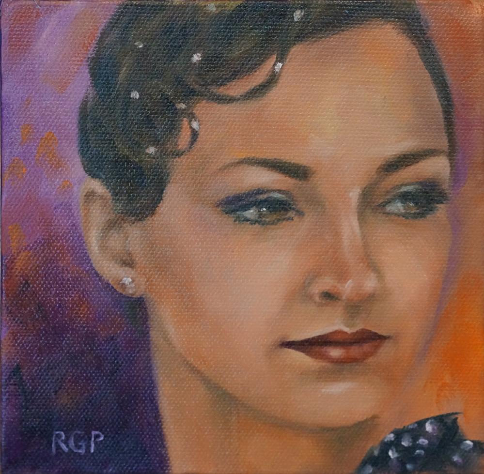 """Sasha's Game Face"" original fine art by Rhea  Groepper Pettit"