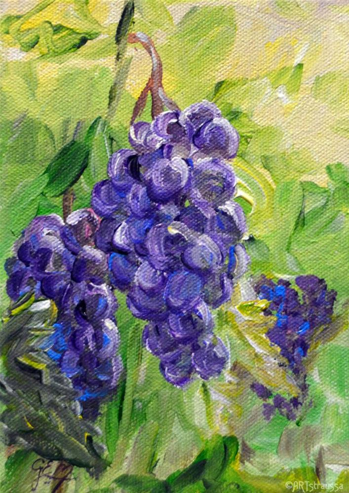"""Purple Sweetness"" original fine art by Gloria Ester"