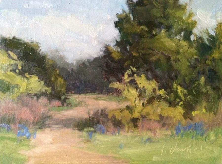 """Bluebonnet Trail"" original fine art by Laurel Daniel"