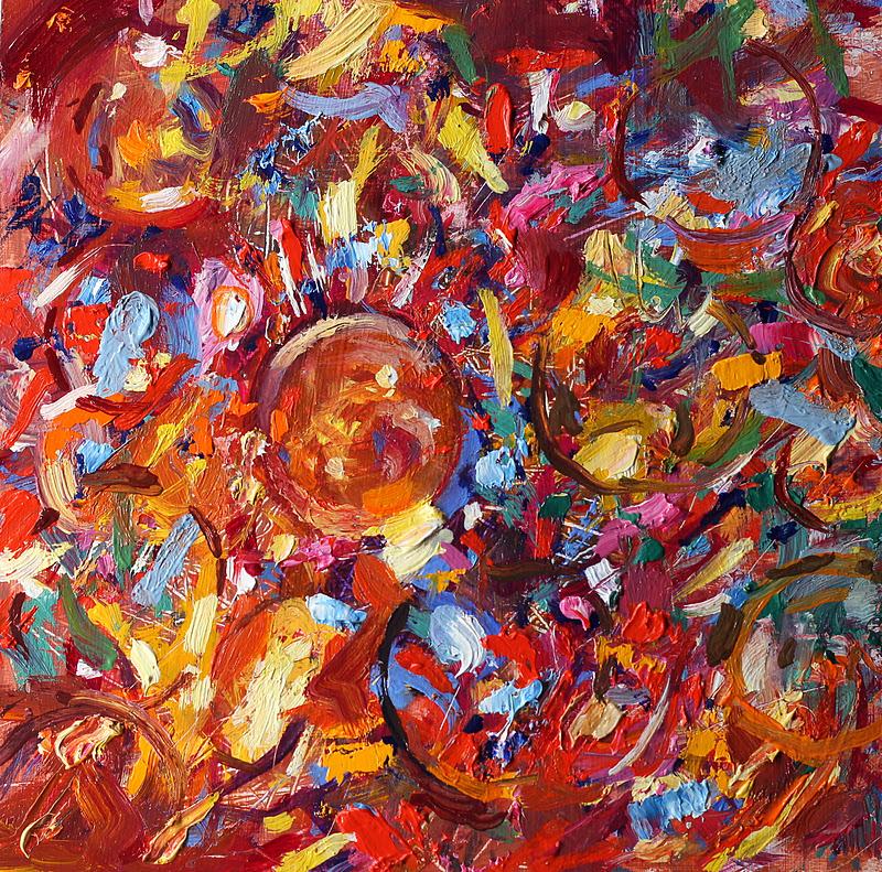 """""""Baubles 1&2"""" original fine art by Ken Devine"""