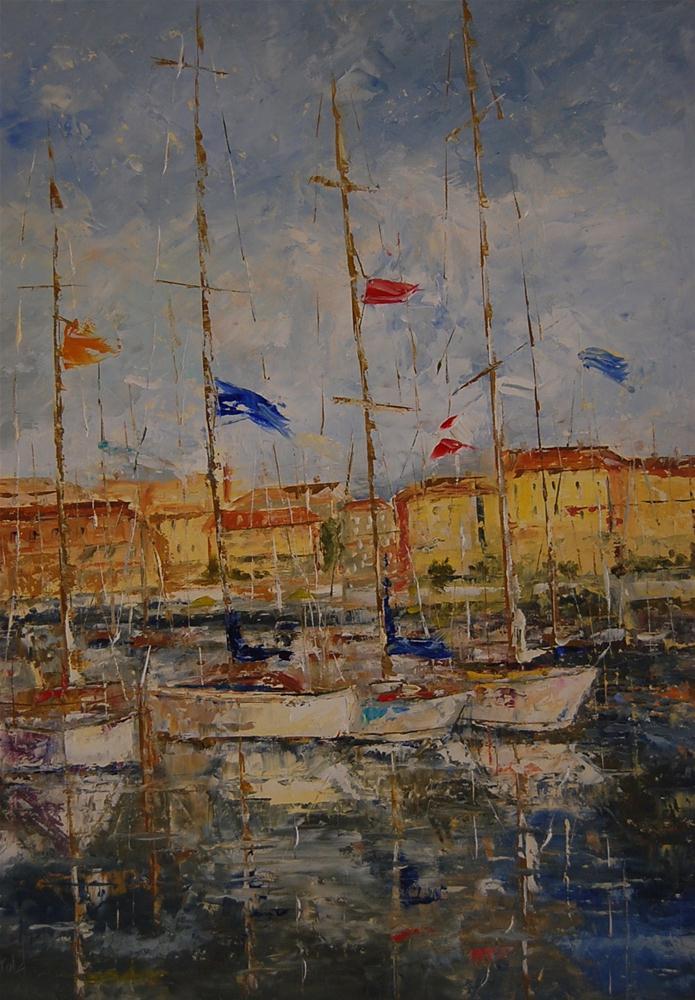 """St. Tropez"" original fine art by Deborah Harold"