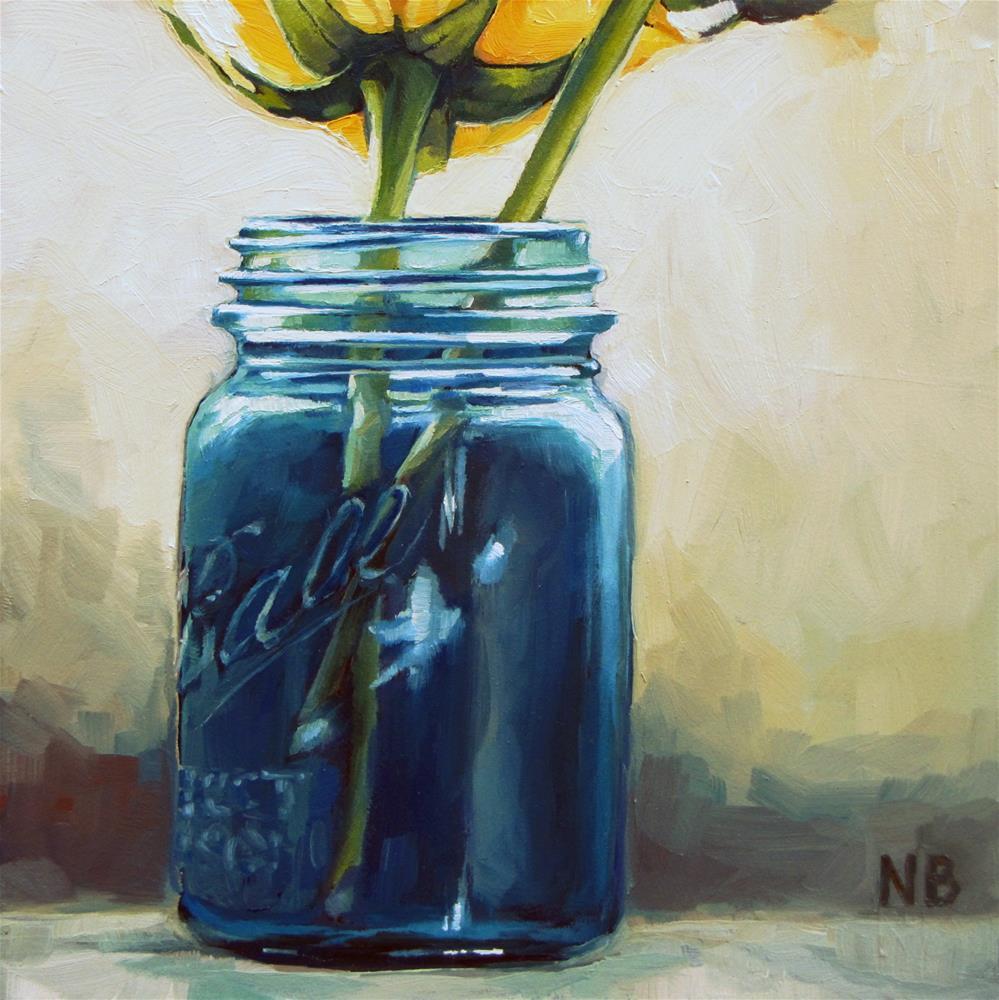 """Feeling Blue"" original fine art by Nora Bergman"