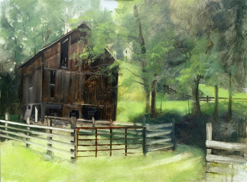"""Stanton Barn"" original fine art by Beth Bathe"